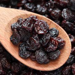 Too many raisins will kill you, too.