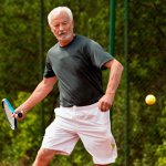Staying fit by playing tennis