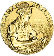 2006_Norman_Borlaug_Congressional_Gold_Medal_front