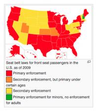 US Seatbelt Laws