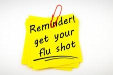 reminder for flu shot via shutterstock