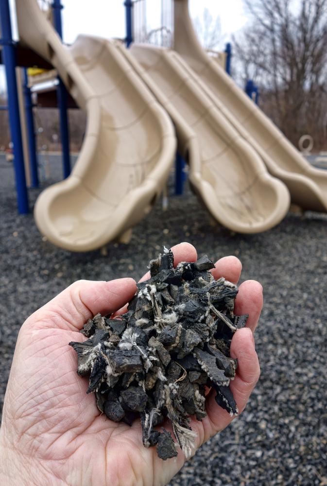 Crumb rubber via Shutterstock