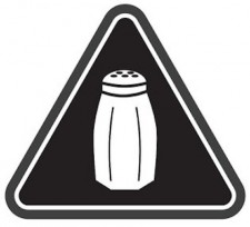 Salt Warning Icon, via Shutterstock