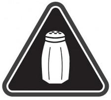 Salt Warning Icon, via Shutterstock