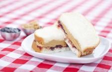 Peanut Butter & Jelly Sandwich via Shutterstock