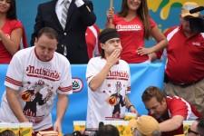 Joey Chestnut and Matt Stonie via a katz / Shutterstock
