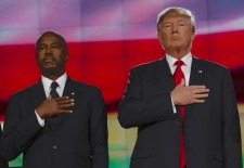 Trump and Carson via Shutterstock