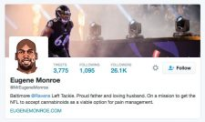 Monroe's mini biography on his Twitter page