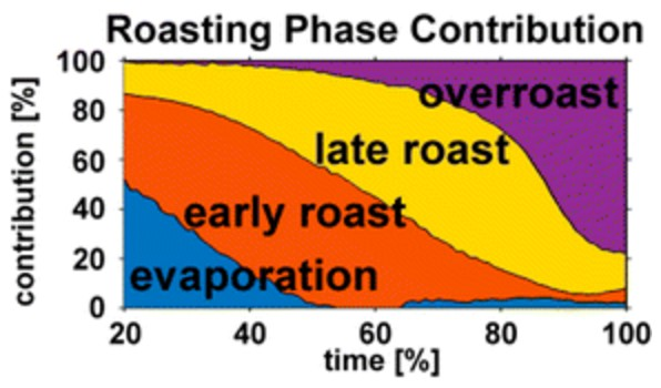 The phases of coffee roasting. (Credit: H. Czech et al., J. Agric. Food Chem. 2016. DOI: 10.1021/acs.jafc.6b01683)