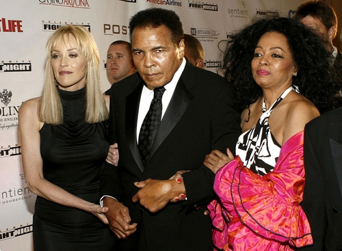 Sharon Stone, Muhammad Ali, Diana Ross at Muhammad Ali's Celebrity Fight Night XIII ,JW Marriott Desert Ridge Resort & Spa, Phoenix, AZ, March 24, 2007 Image ID:181657619 Copyright: Everett Collection Editorial Credit: Everett Collection / Shutterstock.com