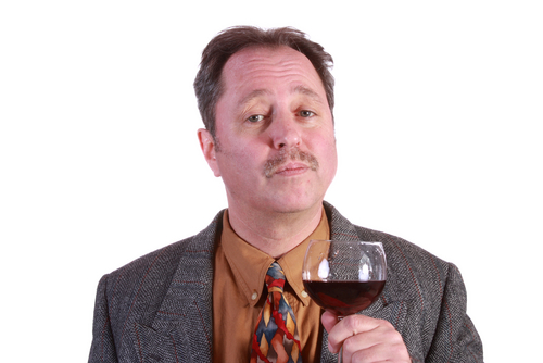 Do you think this guy will drink synthetic wine? (Credit: Shutterstock)